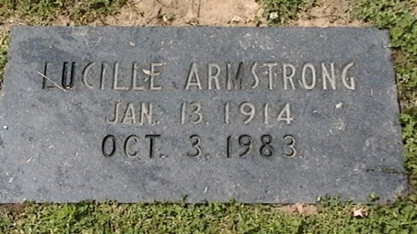 Lucille Armstong plate