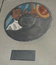 The Starr-Gennett walk of fame, on location at the site of the old recording and piano manufacturing plant