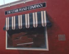 Mural for where the old Starr Piano Company retail store was